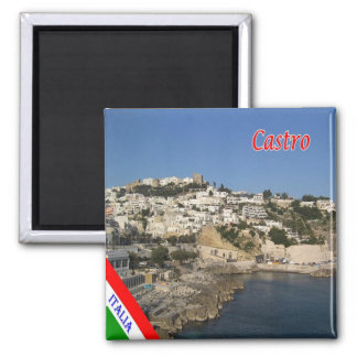 IT - Italy - Salento - Castro Panorama Square Magnet