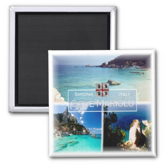 IT # Italy - Sardinia - Baulei - Cove Mariolu Magnet