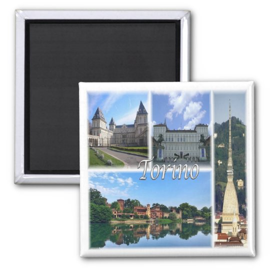 IT * Italy - Torino Turin Square Magnet