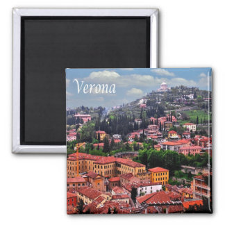 IT - Italy - Verona - Panorama Square Magnet