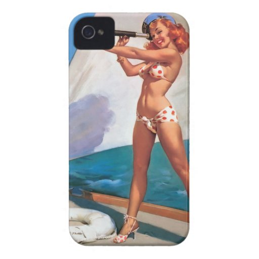 It marries for Blackberry Bold Pin Up Vintage Case-Mate iPhone 4 Case