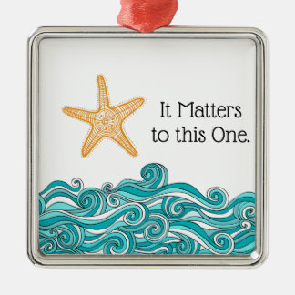 It Matters to This One Starfish Christmas Ornament