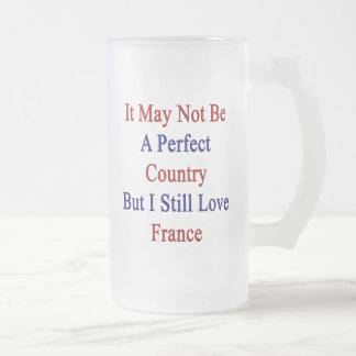 It May Not Be A Perfect Country But I Still Love F Glass Beer Mug