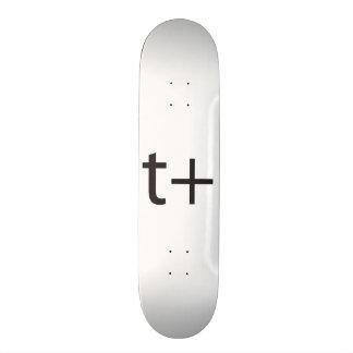 it means think positive.ai 20 cm skateboard deck