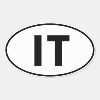 IT Oval Identity Sign Sticker