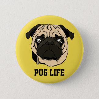 It plates Pug 6 Cm Round Badge