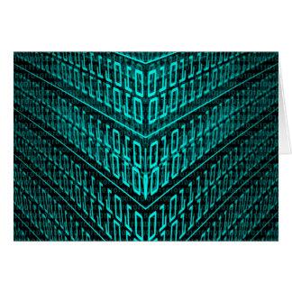 IT programming  computer binary code programmer Card