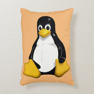 It rests with this fantastic cushion of Linux/Tux