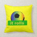 it rolls throw pillows