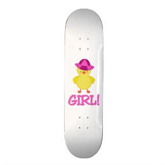 It s A Baby Girl Duckie Pink Hat Skate Board