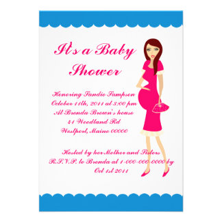 It s a Baby Shower Custom Announcements