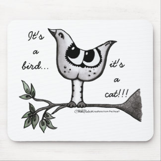 It's a bird... it's a cat! -Optical Illusion Mouse Pad