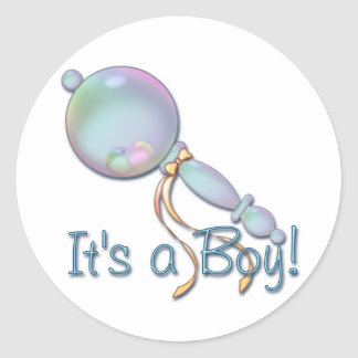 IT S A BOY BABY RATTLE by SHARON SHARPE Stickers