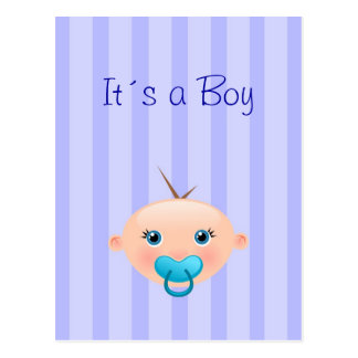 It´s a Boy - Birth Announcement Postcard