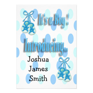 It s a Boy Booties Birth Announcement