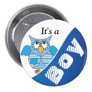 It s A Boy Button Pin