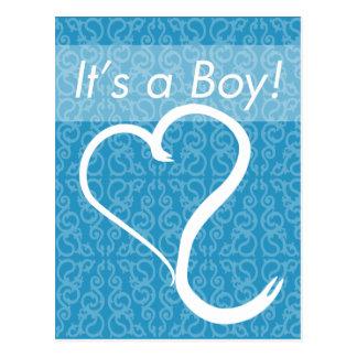 It s a Boy Custom Birth Announcement Postcard
