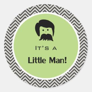 It s a boy little man green chevron stickers sticker