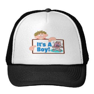 It s A Boy Mesh Hat