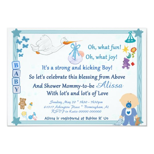 It's a Boy – Personalised Baby Shower Invitation