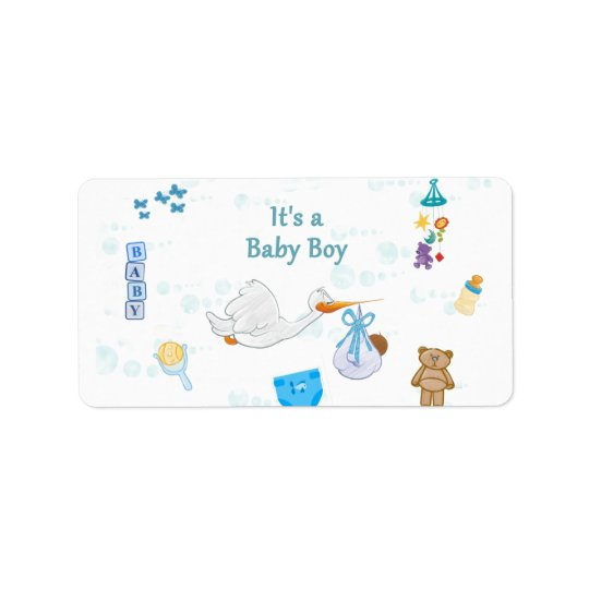 It's a Boy – Personalised Baby Shower Label