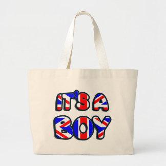 It s a Boy Royal baby Canvas Bag