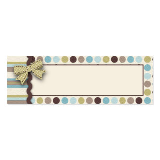 It s a Boy Skinny Gift Tag 2 Business Card