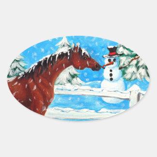 It s a Carrot Horse Snowman Sticker