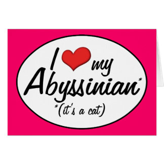 It s a Cat I Love My Abyssinian Card