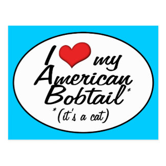 It s a Cat I Love My American Bobtail Post Card