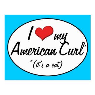 It s a Cat I Love My American Curl Postcard
