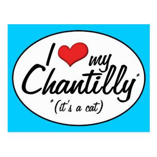It s a Cat I Love My Chantilly Postcards