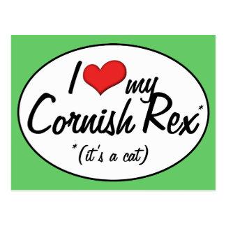 It s a Cat I Love My Cornish Rex Postcard