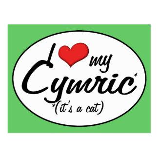 It s a Cat I Love My Cymric Post Cards
