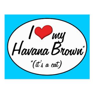 It s a Cat I Love My Havana Brown Postcard