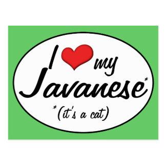 It s a Cat I Love My Javanese Postcards