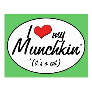 It s a Cat I Love My Munchkin Post Cards
