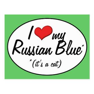 It s a Cat I Love My Russian Blue Post Card