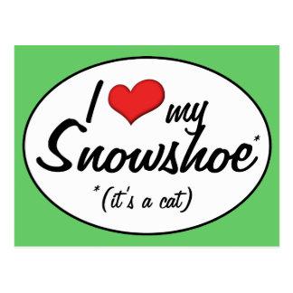 It s a Cat I Love My Snowshoe Postcard