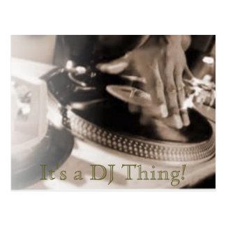 It s a DJ Thing Postcard