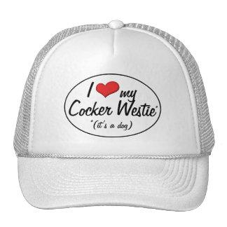 It s a Dog I Love My Cocker Westie Mesh Hats
