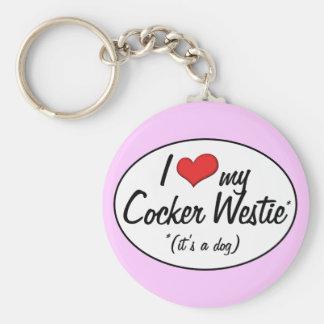 It s a Dog I Love My Cocker Westie Keychains