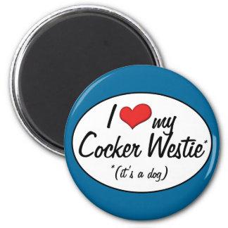 It s a Dog I Love My Cocker Westie Fridge Magnets