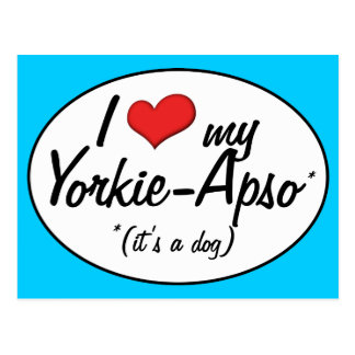 It s a Dog I Love My Yorkie-Apso Post Cards