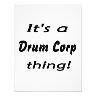 It s a drum corp thing custom announcements