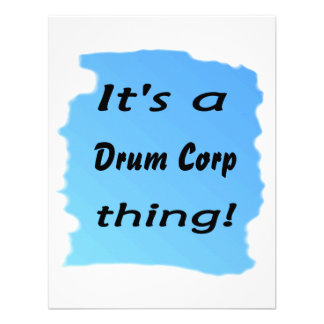 It s a drum corp thing invitations