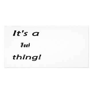 It s a feet thing photo card template