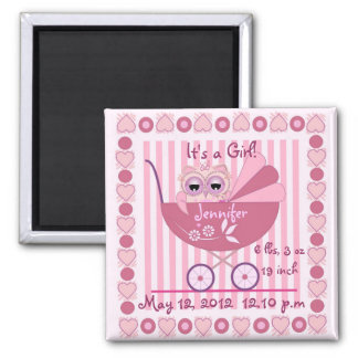 It's A Girl Baby Announcement Magnet