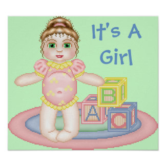 It s A Girl Baby Poster