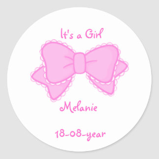 It s a girl -bow-sticker